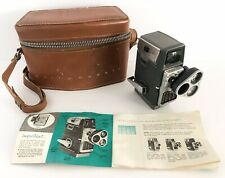 Vtg Movie Camera 8mm Bell And Howell Electric Eye 393 Perpetua Leather Case MCM