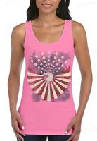 Eagle Flag Stars Distressed Women's Tank Top American Patriotism Tank Tops