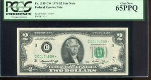 1976 $2 Federal Reserve **STAR** Note Philadelphia #C00434809* PCGS 65PPQ