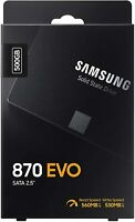 Samsung 870 EVO 500GB Internal SSD 2.5 inch MZ-77E500B/AM Solid State Drive