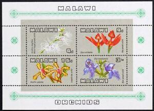 Malawi 1969 MNH SS, Orchids, Flowers