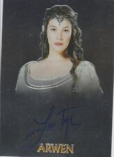 Liv Tyler Topps Chrome Lord of the Rings autograph auto card