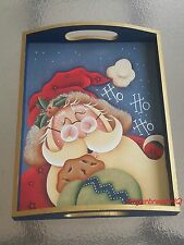 HP Santa and Cookie  wooden serving tray,Christmas Decor, Holidays, Kitchen