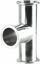 Standard Sanitary Stainless Steel 2 Tri Clamp Tee 3 Way 51mm Pipe Od Durable