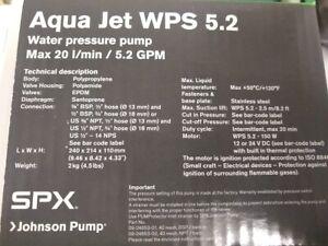 Aqua Jet WPS 5.2 Water Pressure Pump (Brand new, never used- Retails $169.50!)