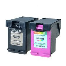 2PK 901XL Black & Color Ink Cartridges for HP Officejet 4500 G510 Series Printer