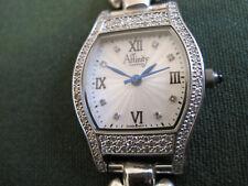 #207 ladys sterling silver 96  diamond AFFINITY quartz watch bracelet