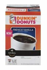Dunkin Donuts French Vanilla Coffee K-Cups Keurig Hot