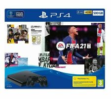 SONY PlayStation 4 with FIFA 21 & Two DualShock Wireless Controllers 500GB