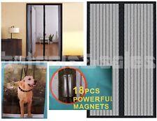 "82"" x 40"" Portable Magnetic Magic Mesh Hands-Free Screen Sliding Doors Patio RVs"
