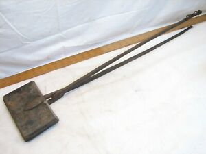 Antique Cast Iron Waffle Maker Primitive Fireplace Stove Top Kitchen Tool
