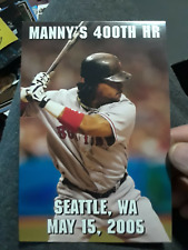 MANNY RAMIREZ 400TH HOME RUN 4X6 CELEBRATION HAND OUT FENWAY PARK 2005 RARE 24