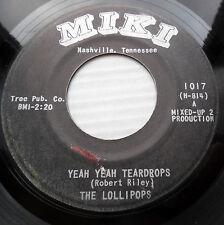 the Lollipops GIRL GROUP Popcorn 45 YEAH YEAH TEARDROPS / I'M SO GRATEFUL dm617