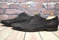 Men's Pier One Black Leather Lace Up Shoes Size UK 9 EUR 43 RRP - £69