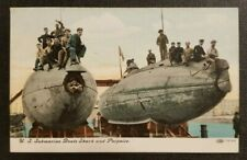 1908 Postcard Cover Us Submarine Boats Shark and Porpoise Oakville Orrstown Pa