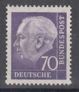 """BRD/Bund - Nr. 263 Z postfrisch/**, geprüft """"Schlegel, BPP"""" (70 Pf. Heuss) !!!"""