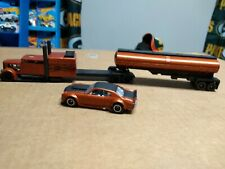Hot Wheels CUSTOM CONVOY CUSTOM TRUCK AND TRAILER WITH COLOR MATCHING CHEVELLE