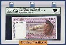 TT PK 712Kc 1994 WEST AFRICAN STATES/SENEGAL 2500 FRANCS PMG 65 EPQ GEM