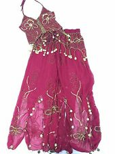 Belly Dance Costume Red Embellished Size XS