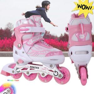 LED Inliner Roller für Kinder Inline Skates Mädchen Roller Kinder Rollschuhe Neu
