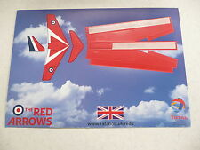 Royal Air Force Red Arrows 'pop out' make your own card plane  *mint