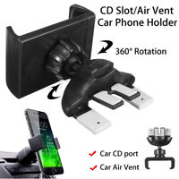 Universal Car CD Slot Air Vent Holder Stand Cradle Mount For Mobile Phone GPS~