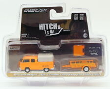 Greenlight 1/64 Scale 32110-A - 1978 VW Type 2 Double Cab Pickup & Trailer