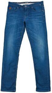 Vanguard Men's Jeans Denim Boot Cut Blue Cotton Pocket Button Zip Size 35/34