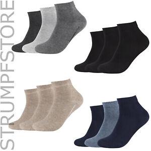 6 Paar Camano Quarter Sneaker Socken Kurzschaftsocken ohne Gummidruck 3023