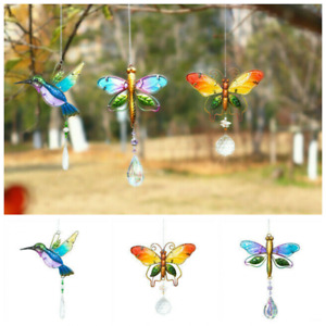 Hummingbird Crystal Suncatchers Ball Prisms Hanging Ornament Home Wedding Decor