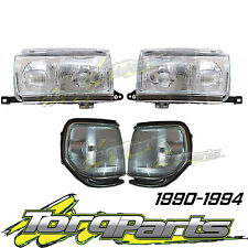 SET HEADLIGHTS & CORNER LIGHTS SUIT TOYOTA LANDCRUISER 80 SERIES SAHARA 90-94