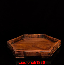 "12.8"" China old antique Qing Dynasty Rosewood Six sides Tea tray"