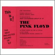 Pink Floyd 1967 Launch Party Invitation (UK)