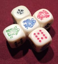 5 White Poker 16mm Premium Dice