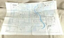 More details for 1945 ww2 military map of chiang mai province thailand siam city street map rare