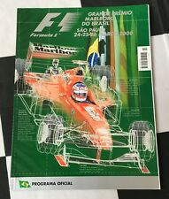 2000 BRAZILIAN INTERLAGOS GP F1 RACE PROGRAMME MICHAEL SCHUMACHER FISICHELLA