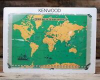 """Kenwood: Laminated World Map For The Radio Amateur - 11.5"""" x 8.5"""""""