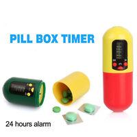 Digital Pill Medicine Box Timer Buzzer Alarm Reminder Container Health Care