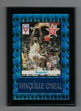 "Vintage 1992 6.5"" x 4.5"" Card Plaque Shaq O'neal LSU Sports Stars USA #1"