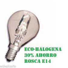 Bombilla Ahorradora Esferica E14 ECO-HALOGENA 42w=60w Bajo Consumo 30% ahorro