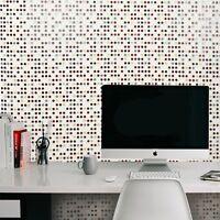 White Red Gold Gray Wallpaper Polka dot textured pattern wallcoverings rolls 3D