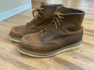 """Red Wing Heritage 6"""" Moc Toe 1907 Men's Work Boots 8.5 D Copper Leather"""