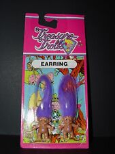 "Troll Doll 1"" Treasure Troll Ace Novelty Bingo Lottery Purple Pierced Earrings"