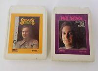 Neil Sedaka 8 Track Tape Set of 2 Emergence Solitaire FREE SHIPPING