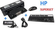 HP Docking Station HSTNN-I11X + HP 120W Netzteil + HP Tastatur + HP Maus
