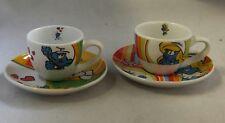 Puffi Puffo Smurf Smurfs Schtroumpfs Espresso Set Tazzine da Caffè (2)