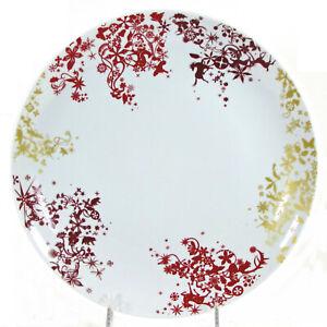 "Studio Tord Boontje CHRISTMAS DAY 11"" Dinner Plate White Red Gold Wine Target"