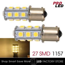 20X 1156 BA15S RV Trailer 12V LED Lights Bulbs 27 SMD Warm White