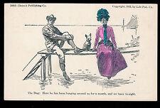 1893 artist Charles Dana Gibson The Dog glamour girl postcard