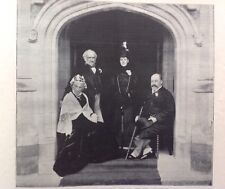 Prince & Princess Of Wales And Mr & Mrs Gladstone, 1898 Antique Print